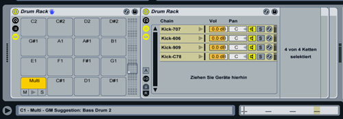 Ableton Live Multi-Layer Drum Pad